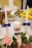 Красивые свечи для wedding Стоковые Фотографии RF