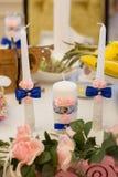 Красивые свечи для wedding Стоковое Изображение RF