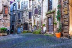 Красивые средневековые деревни Италии - Vitorchiano Стоковое Фото