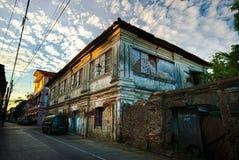 красивые старые дома вдоль Gen St луны, Vigan, Ilocos Sur, Phi Стоковые Изображения