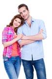 Красивые счастливые пары в вскользь Стоковое Фото