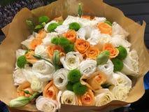 Красивые следующие с желтыми, оранжевыми и зелеными цветами Стоковые Изображения RF