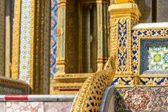 Красивые украшения грандиозного дворца bangkok Таиланд Стоковое Фото