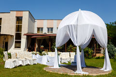 Красивые украшения для свадебной церемонии Стоковое Фото