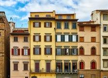 Красивые фасады старых итальянских зданий Стоковое фото RF