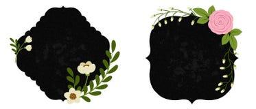 Красивые флористические ярлыки Часть 1 Стоковое Изображение