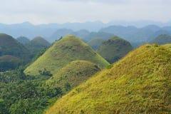 Красивые холмы шоколада, Bohol, Филиппины стоковые фотографии rf