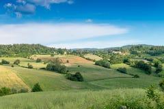 Красивые цвета весны Bibbiena в Тоскане Стоковое фото RF