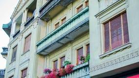 Красивые цвета на здании Стоковые Изображения RF