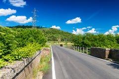 Красивые цвета Тосканы Весна в сельской местности, Италии Стоковые Изображения
