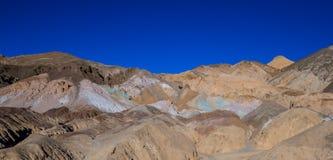 Красивые цвета Death Valley в Калифорнии - палитре художников Стоковое Изображение RF