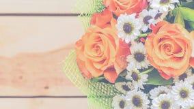 Красивые цветки в винтажном стиле Стоковое Изображение