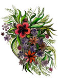 Красивые цветки в различных формах Стоковые Фотографии RF