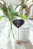 Красивые цветки на расположении украшения таблицы свадьбы Стоковое фото RF