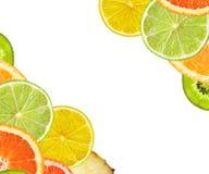 Красивые цитрусовые фрукты лимона, апельсина, грейпфрута, известки Стоковые Фотографии RF