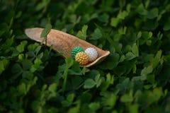 Красивые шарики игрушки с фотоснимком естественной предпосылки стоковая фотография