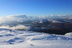 Красивые шотландские гористые местности Стоковые Изображения RF