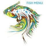 Красивые экзотические и художнические рыбы Стоковое Фото