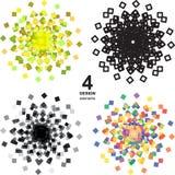 Красивые элементы дизайна grunge цвета иллюстрация Стоковые Изображения RF