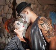 Красивые любовники Cirque Стоковые Фото