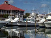 Красивые яхты и шлюпки в Августине Блаженном, Флориде стоковое фото