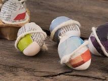 Красивые selfmade пасхальные яйца стоковое фото rf