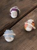 Красивые selfmade пасхальные яйца стоковые фото