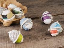 Красивые selfmade пасхальные яйца стоковые фотографии rf