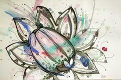 Красивый абстрактный бутон цветка картины Стоковое Изображение