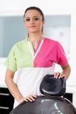 Красивый дантист женщины на офисе Стоковое фото RF