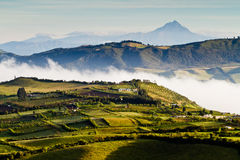 Красивый андийский взгляд ландшафта от Nono, эквадора стоковое фото rf
