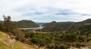 Красивый ландшафт Андалусии испанского языка Стоковое фото RF