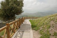 Красивый ландшафт вокруг горы в Bergama (Пергаме), Турции Стоковые Изображения RF