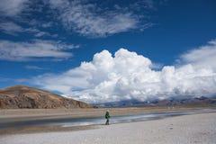 Красивый ландшафт в Тибете Китая Стоковые Фотографии RF