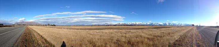 Красивый ландшафт в центральном Otago стоковая фотография rf