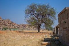 Красивый ландшафт города Hampi в Индии Стоковые Фото