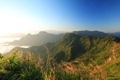 Красивый ландшафт горы Fa хиа Phu, Chiang Rai Таиланда Стоковое Изображение RF