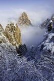 Красивый ландшафт горы Huangshan Стоковые Изображения RF