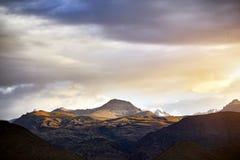 Красивый ландшафт гор стоковая фотография rf