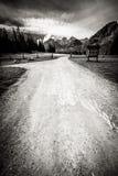 Красивый ландшафт гор Tatry в черно-белом Стоковые Изображения