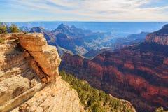 Красивый ландшафт гранд-каньона от северной оправы, Аризоны, США стоковые изображения rf