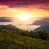 Красивый ландшафт лета, горы Европы, перемещение Европы, мир красоты Стоковая Фотография RF