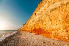 Красивый ландшафт длинной пропасти глины Стоковое фото RF