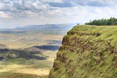 Красивый ландшафт кратера Menengai, Nakuru, Кении Стоковое Изображение