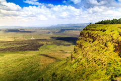 Красивый ландшафт кратера Menengai, Nakuru, Кении Стоковая Фотография RF