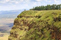 Красивый ландшафт кратера Menengai, Nakuru, Кении Стоковое Изображение RF