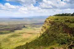 Красивый ландшафт кратера Menengai, Nakuru, Кении Стоковая Фотография