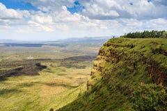 Красивый ландшафт кратера Menengai, Nakuru, Кении Стоковое Фото