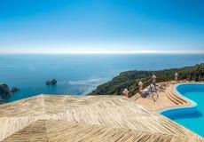 Красивый ландшафт курорта лета Стоковое Изображение RF