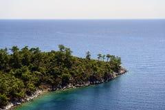 Красивый ландшафт моря в Греции Стоковое фото RF